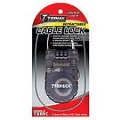 T33RC - T33RC Retractable Cable 3-Digit Combination Lock - 36″ L x 3mm
