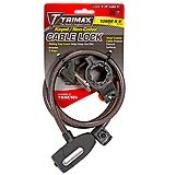 TNKC106 - TNKC106 TRIMAFLEX Non-Coiled Cable Lock W/Quick Release Bracket - 72″ L x 10mm