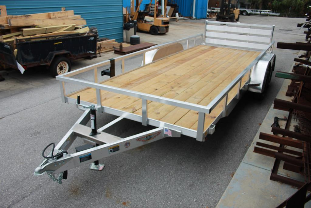 528393 - 2020 7x18 H&H Aluminum Utility Trailer with Wood Deck - 528393
