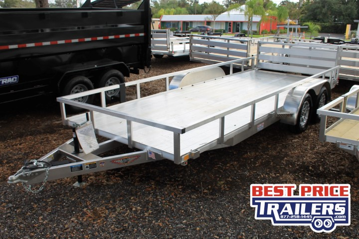 528395 - 2020 7x18 H&H Aluminum Utility Trailer with Extruded Deck - 528395