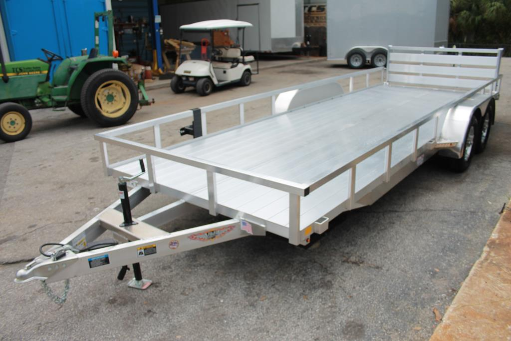 528396 - 2020 7x20 H&H Aluminum Utility Trailer with Extruded Deck - 528396