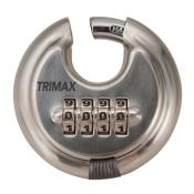 TRPC170 - TRPC170  Stainless Steel 70mm Round Combination Padlock 10mm Shackle
